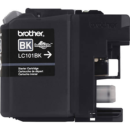 Brother Genuine Innobella LC101BK Black Ink Cartridge - Inkjet - Standard Yield - 300 Pages - Black - 1 Each