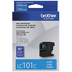 Brother LC101 C Cyan Ink Cartridge
