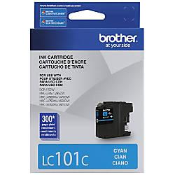 Brother LC101 C Cyan Ink Cartridge