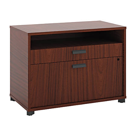 "basyx by HON® Manage Series Laminate Letter-Size Lateral File Center, 2-Drawer, 22""H x 30""W x 16""D, Chestnut"