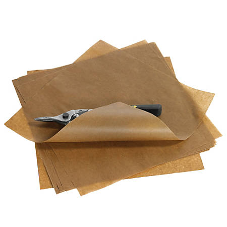 "Office Depot® Brand Waxed Paper Sheets, 24"" x 36"", Kraft, Case Of 580"