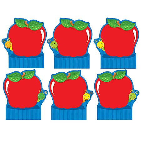 Carson-Dellosa Good Work Holders: Apple, Pack Of 6