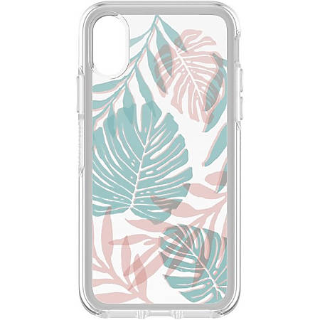 OtterBox iPhone X Symmetry Series Clear Graphics Case - For iPhone X - Easy Breezy - Shock Resistant, Scratch Resistant - Synthetic Rubber, Polycarbonate