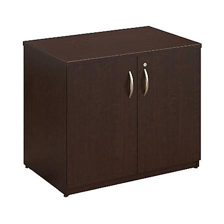 "Bush Business Furniture Components Elite Storage Cabinet, 36""W, Mocha Cherry, Standard Delivery"