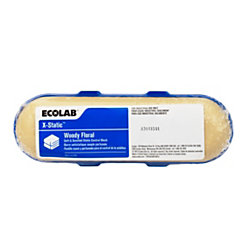 Ecolab X-Static Dryer Blocks, Woody Floral Scent, 5.29 Oz, Pack Of 12 Blocks