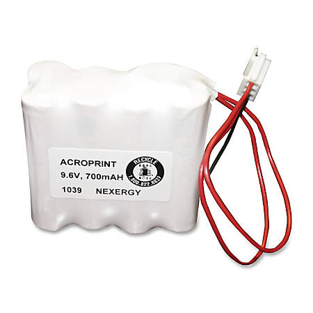 Acroprint Time Recorder Device Battery - For Time Recorder Device - Battery Rechargeable - Nickel Cadmium (NiCd) - 1 Each