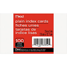 Mead 90 lb Stock Index Cards