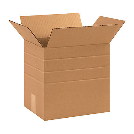 "Office Depot® Brand Multi-Depth Corrugated Boxes 13 1/4"" x 10 1/4"" x 12"", Bundle of 25"