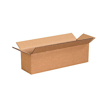 office depot brand long corrugated boxes 14 x 4 x 4 bundle. Black Bedroom Furniture Sets. Home Design Ideas