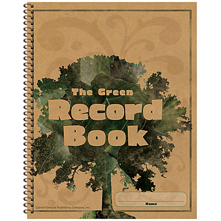 Carson-Dellosa Green 100% Recycled Record Book
