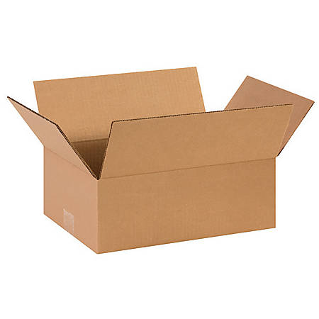 14in(L) x 10in(W) x 5in(D) - Corrugated Shipping Boxes