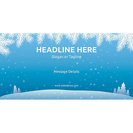Custom Horizontal Banner, Winter Snowflakes