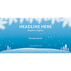 Custom Horizontal Banner Winter Snowflakes