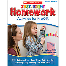 Scholastic Just Right Homework Activities For