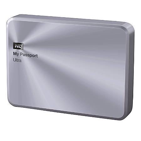 WD My Passport™ Ultra Metal Edition 2TB Portable External Hard Drive, USB 3.0/2.0, Silver