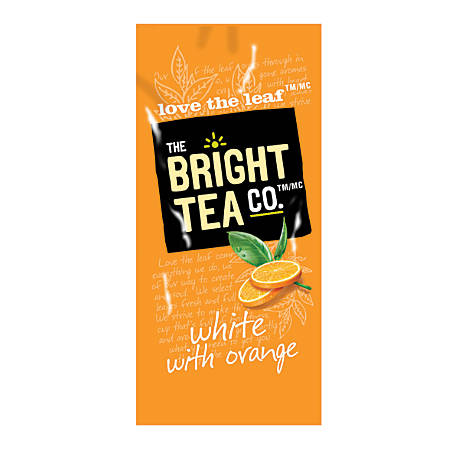 The Bright Tea Co.™ White With Orange Tea, Single-Serve Freshpacks, 0.25 Oz, Box Of 100