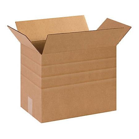 "Office Depot® Brand Multi-Depth Corrugated Boxes 14 1/2"" x 8 3/4"" x 12"", Bundle of 25"