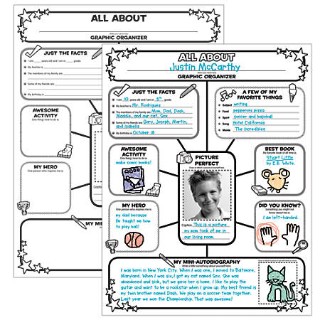 Scholastic Instant Personal Posters — All About Me Web