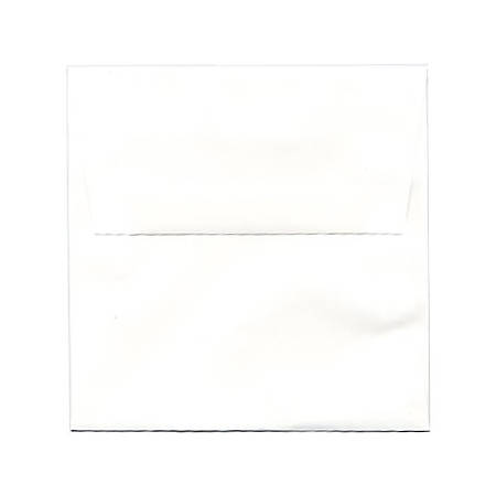 "JAM Paper® Strathmore Invitation Envelopes, 5 1/2"" x 5 1/2"", White, Pack Of 25"