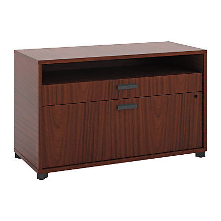 "basyx by HON® Manage Series Laminate Letter-Size Lateral File Center, 2-Drawer, 22""H x 36""W x 16""D, Chestnut"