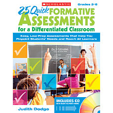 Scholastic 25 Quick Formative Assessments for