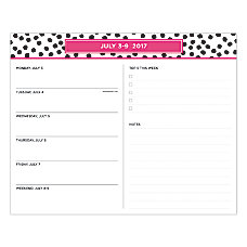 Blue Sky Fashion Weekly Planning Pad