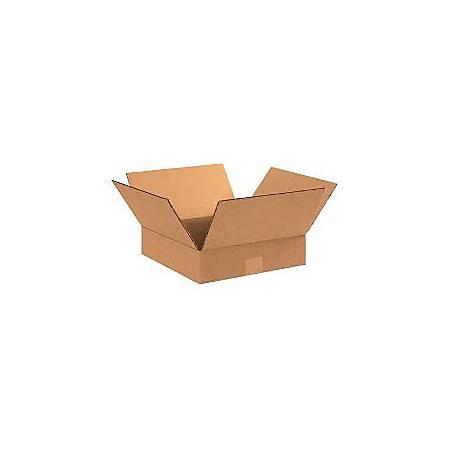 "Office Depot® Brand Flat Corrugated Boxes 15"" x 15"" x 3"", Bundle of 25"