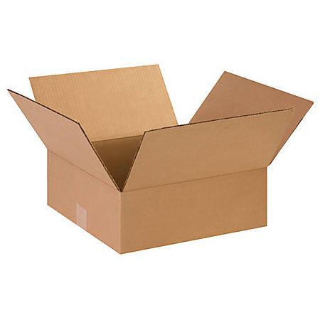 "Office Depot® Brand Flat Corrugated Boxes 15"" x 15"" x 5"", Bundle of 25"