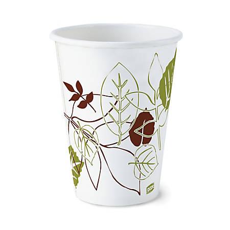 Dixie® Paper Hot Cups, 12 Oz., Pathways Design, Case Of 1,000