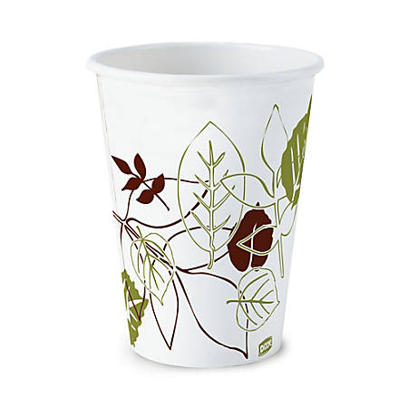 Dixie® Paper Hot Cups, 8 Oz., Pathways® Design, Box Of 25