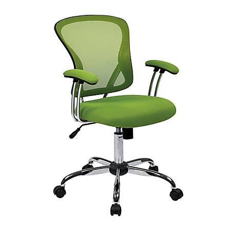 Office Star™ Avenue Six® Juliana Mesh Task Chair, Green/Silver