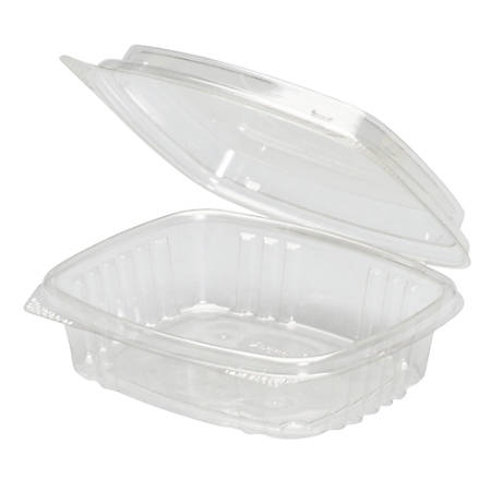 """Genpak® Hinged Deli Containers, APET, High Dome, 0.25 Qt, 2"""" x 4 1/2"""" x 5 3/8"""", Clear, Pack Of 200 Containers"""