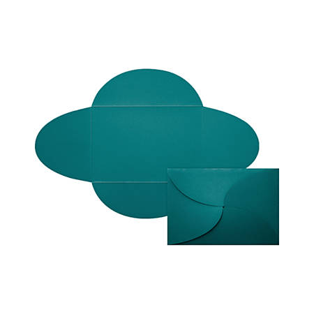 """LUX Petal Invitations, A7, 5"""" x 7"""", Teal, Pack Of 40"""