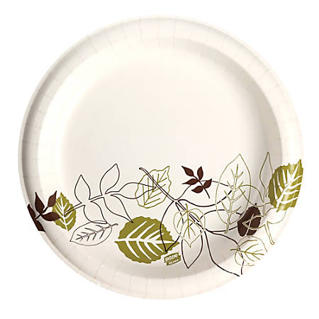 "Dixie® Ultra Paper Plates, 10 1/8"" Diameter, Pathways Design, Pack Of 125"