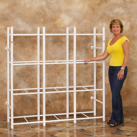 Bin Warehouse Compact Storage System, 12 Compartments, White