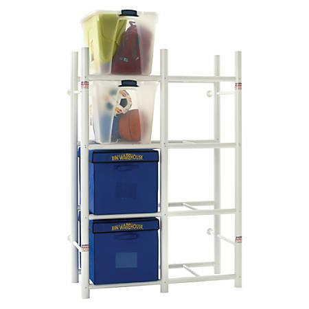 Bin Warehouse Storage System, 8 Compartments, White