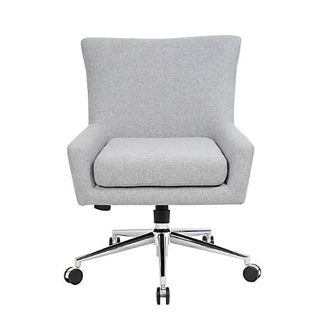 Boss Office Products Carson Modern Mid-Back Chair, Granite Gray/Chrome