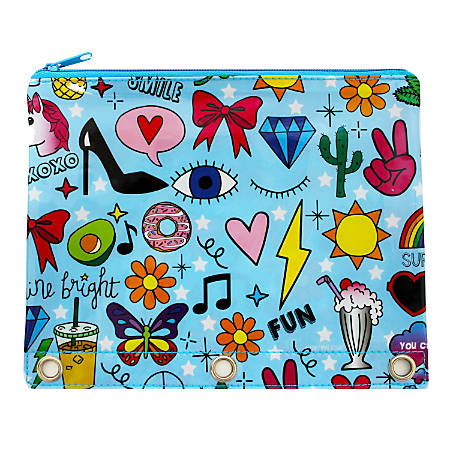 "Corey Paige Mini Backpack Pencil Pouch, 8""H x 4-1/2""W x 1-3/4""D, Glam Girl"