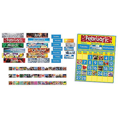 "Scholastic Photo Calendar Bulletin Board, 24 1/2""L"