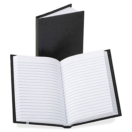 """TOPS Boorum Vinyl Cover Faint Ruled Memo Book - 72 Pages - 3 1/4"""" x 5 1/4"""" - 0.8"""" x 5.3""""8.1"""" - White Paper - Black Cover - Vinyl Cover - Acid-free, Water Proof, Ink Resistant - 1Each"""