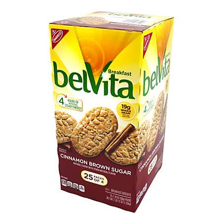 Belvita Cinnamon Brown Sugar Breakfast Biscuits, 4 Packs, Box Of 20