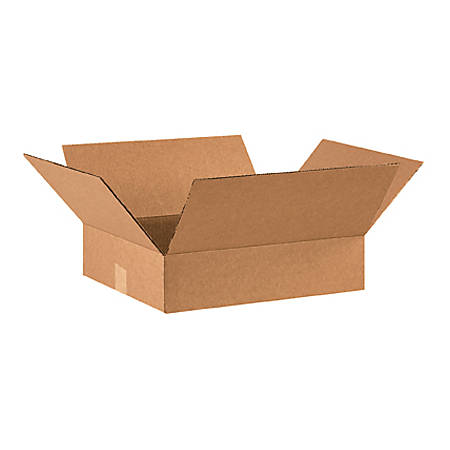 16in(L) x 14in(W) x 4in(D) - Corrugated Shipping Boxes