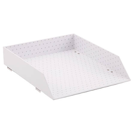 See Jane Work® Stacking Letter Tray, Letter Size, White Dot