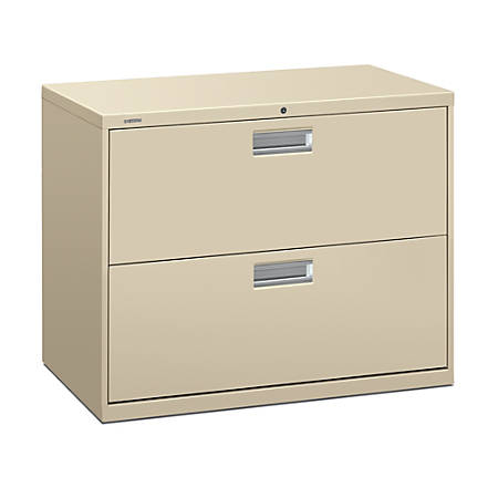 """HON® Brigade 600 Series Lateral File, 2 Drawers, 36"""" W, Putty"""