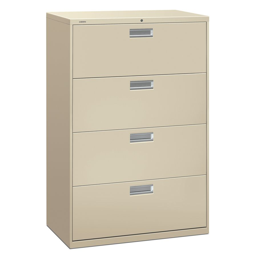 hon brigade 600 series lateral file 4 drawers 36 w puttyoffice 1 drawer file cabinet