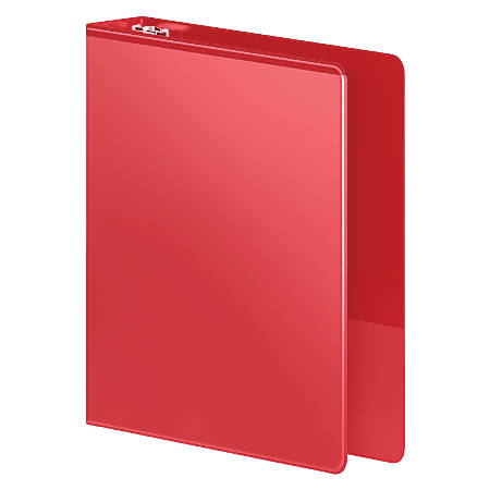 "Wilson Jones® Heavy Duty Binders, With D-Rings And Polypropylene Construction, 1"" Rings, 41% Recycled, Red"