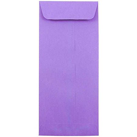 "JAM Paper® Policy Envelopes, #10, 4 1/8"" x 9 1/2"", 30% Recycled, Violet, Pack Of 25"