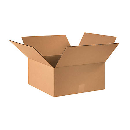 16in(L) x 16in(W) x 7in(D) - Corrugated Shipping Boxes