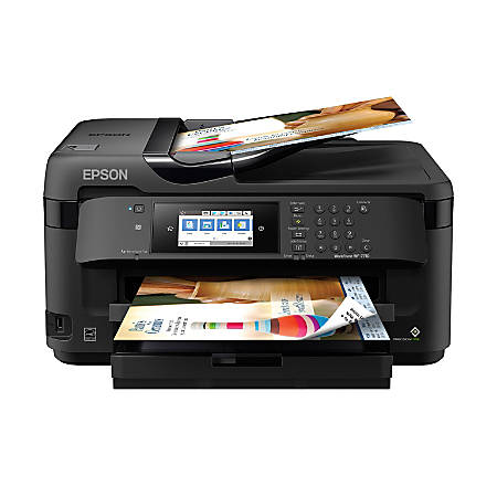 "Epson® WorkForce® WF-7710 Wireless Color 19"" Inkjet Wide-Format All-In-One Printer, Scanner, Copier, Fax, C11CG36201"