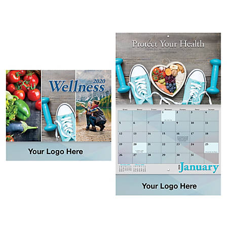 Wellness Wall Calendar, Stapled